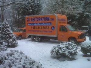 911 Restoration Milwaukee | Winter Truck